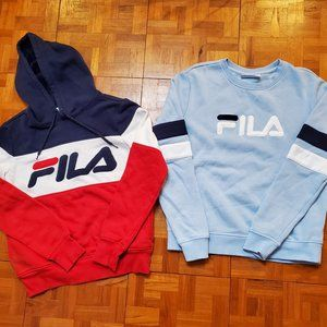 Lot of 2 Fila Sweatshirts Small/Medium